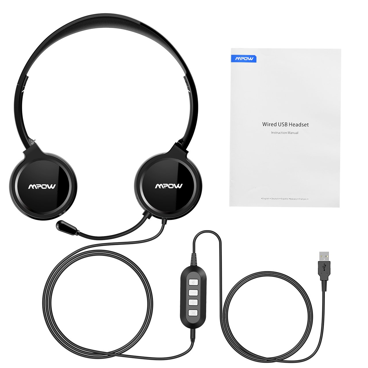 MPOW USB Wired headphone