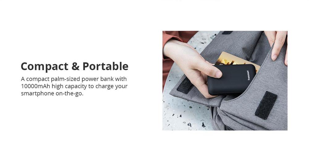 Tronsmart PB10 10000mAh Mini Power Bank with Digital LED Display for iPhone Samsung