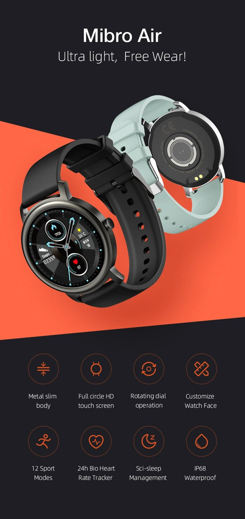 Xiaomi-Mibro-Air-Smart-Watch-in-pakistan-bhsellers.pk-Light-weight